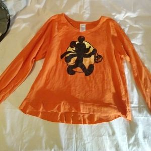 Disney Mickey Mouse Halloween Oversized Top Large